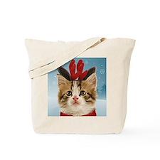 Reindeer Kitten Tote Bag