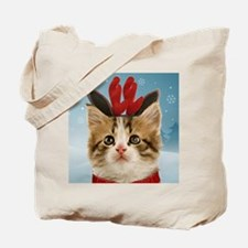 Reindeer Kitten Tote Bag