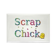 Scrap Chick Rectangle Magnet