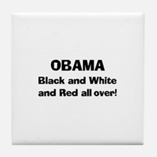 Red All Over! Tile Coaster