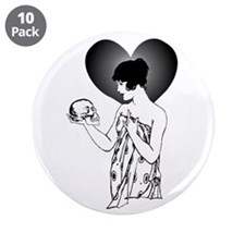 """Ophelia and Yorick 3.5"""" Button (10 pack)"""