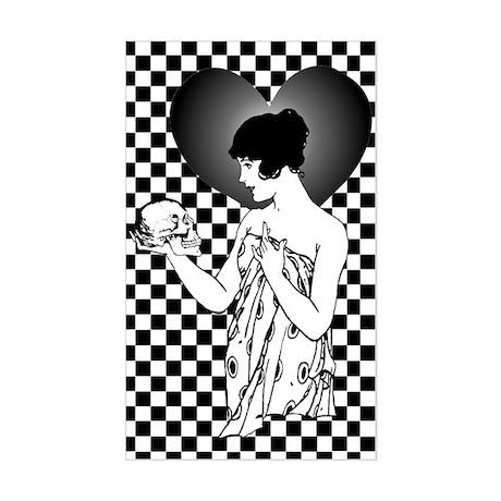 Ophelia and Yorick Rectangle Sticker