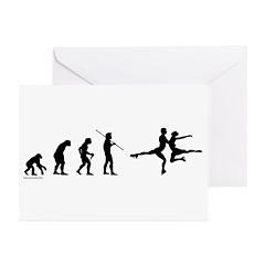 Figure Skate Evolution Greeting Cards (Pk of 20)