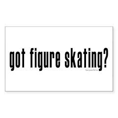 got figure skating? Rectangle Sticker 10 pk)