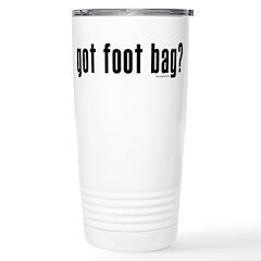 got foot bag? Stainless Steel Travel Mug