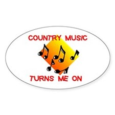 COUNTRY MUSIC RULES Oval Sticker (50 pk)