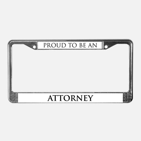 Proud Attorney License Plate Frame