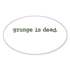 Grunge is Dead Cobain Oval Stickers