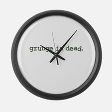 Grunge is Dead Cobain Large Wall Clock