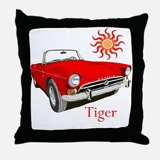 The Red Tiger Throw Pillow