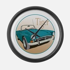 Funny Sunbeam tiger Large Wall Clock