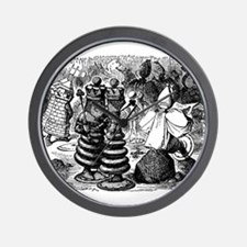 Alice's Chess Pieces Wall Clock