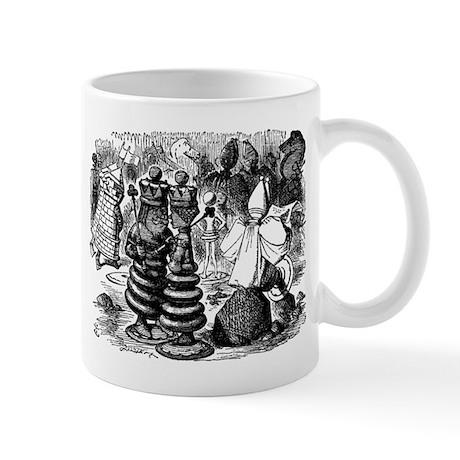 Alice's Chess Pieces Mug