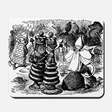Alice's Chess Pieces Mousepad