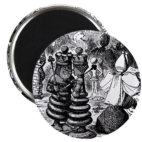 Alice's Chess Pieces Magnet