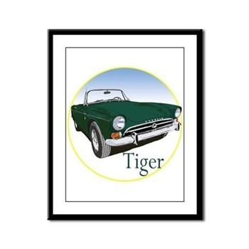 The Green Tiger Framed Panel Print
