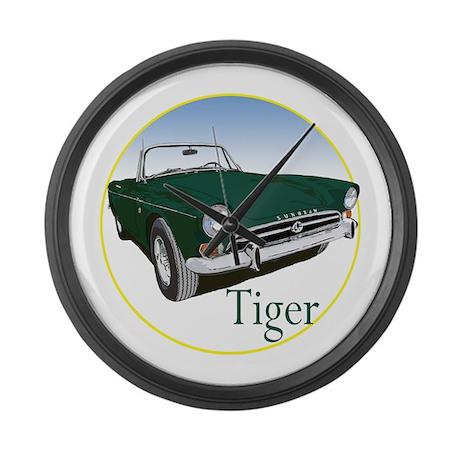 The Green Tiger Large Wall Clock