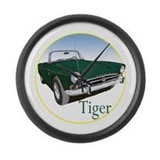 The Green Tiger Large Wall Clock