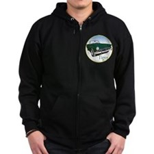 The Green Tiger Zipped Hoodie