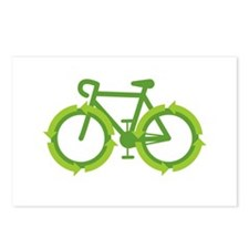 Go Green Bike Earth Postcards (Package of 8)