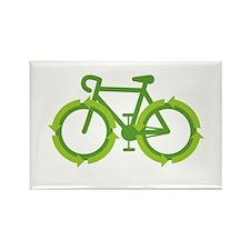 Go Green Bike Earth Rectangle Magnet
