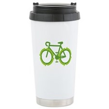 Go Green Bike Earth Travel Mug