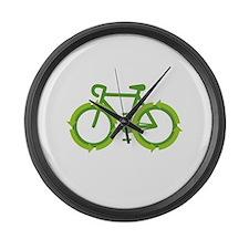 Go Green Bike Earth Large Wall Clock
