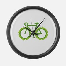 Go Green Bike Earth Large Wall Clock