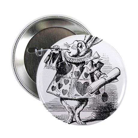 "White Rabbit 2.25"" Button"