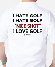 I Hate Golf Golf Shirt
