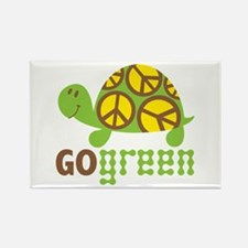 Go Green Turtle Rectangle Magnet