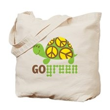 Go Green Turtle Tote Bag