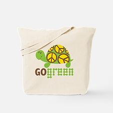 Go Green Turtle Tote Bag