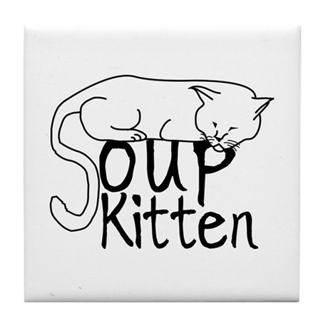 Soup Kitten Tile Coaster