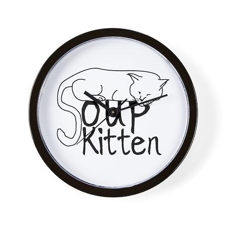 Soup Kitten Wall Clock