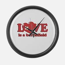 Love is a Battlefield Large Wall Clock