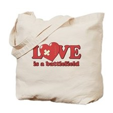 Love is a Battlefield Tote Bag