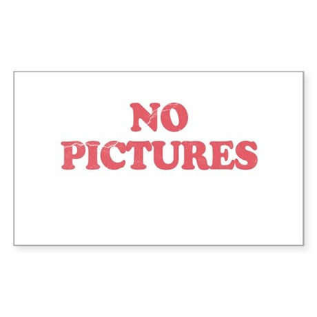 Blondie No Pictures Rectangle Sticker