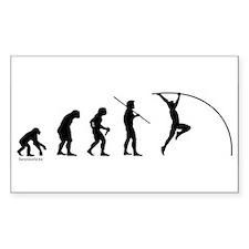 Pole Vault Evolution Rectangle Sticker 10 pk)