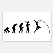 Pole Vault Evolution Rectangle Sticker 10 pk)