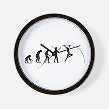 Pole Vault Evolution Wall Clock