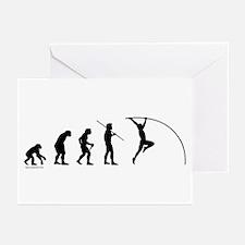 Pole Vault Evolution Greeting Cards (Pk of 20)