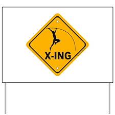 Pole Vault X-ing Yard Sign