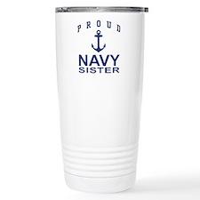 Navy Sister Travel Mug