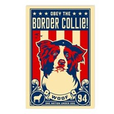 Border Collie! USA Postcards (Package of 8)