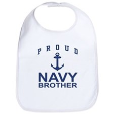 Navy Brother Bib