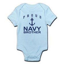 Navy Brother Infant Bodysuit