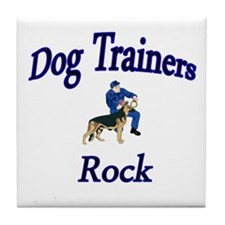 Funny Dog trainer Tile Coaster