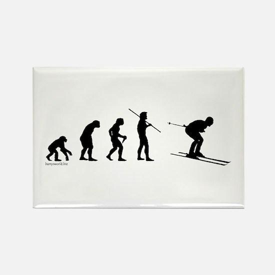 Ski Evolution Rectangle Magnet (10 pack)