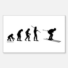 Ski Evolution Rectangle Sticker 10 pk)